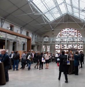 Photograph: Poster area, at the conference venue (Le Centquatre)